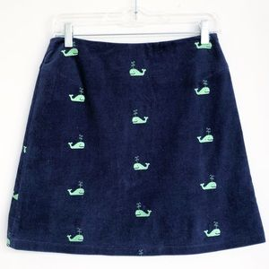 ⭐️ Lilly Pulitzer ⭐️ Whale Navy Corduroy Skirt